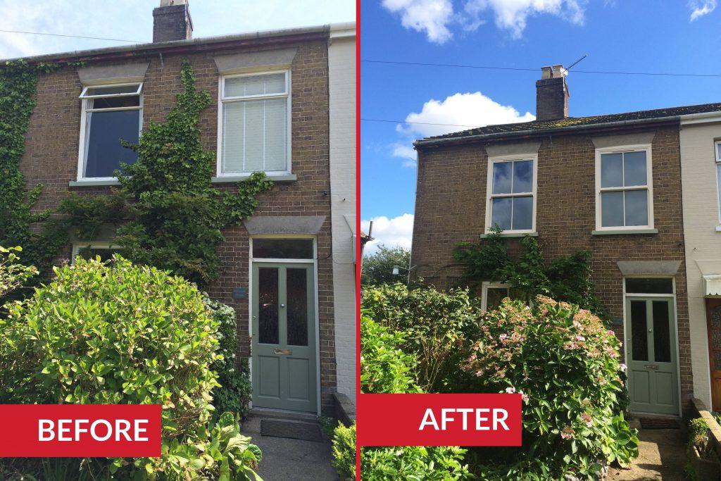 sliding sash windows wroxham Norfolk